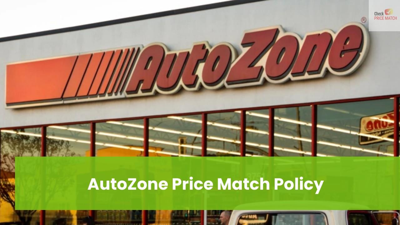 AutoZone Price Match Policy