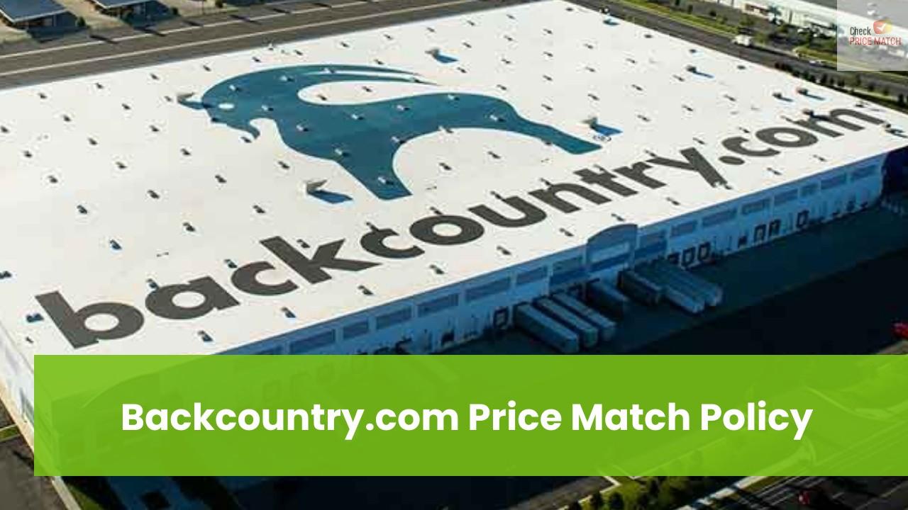 Backcountry.com Price Match Policy