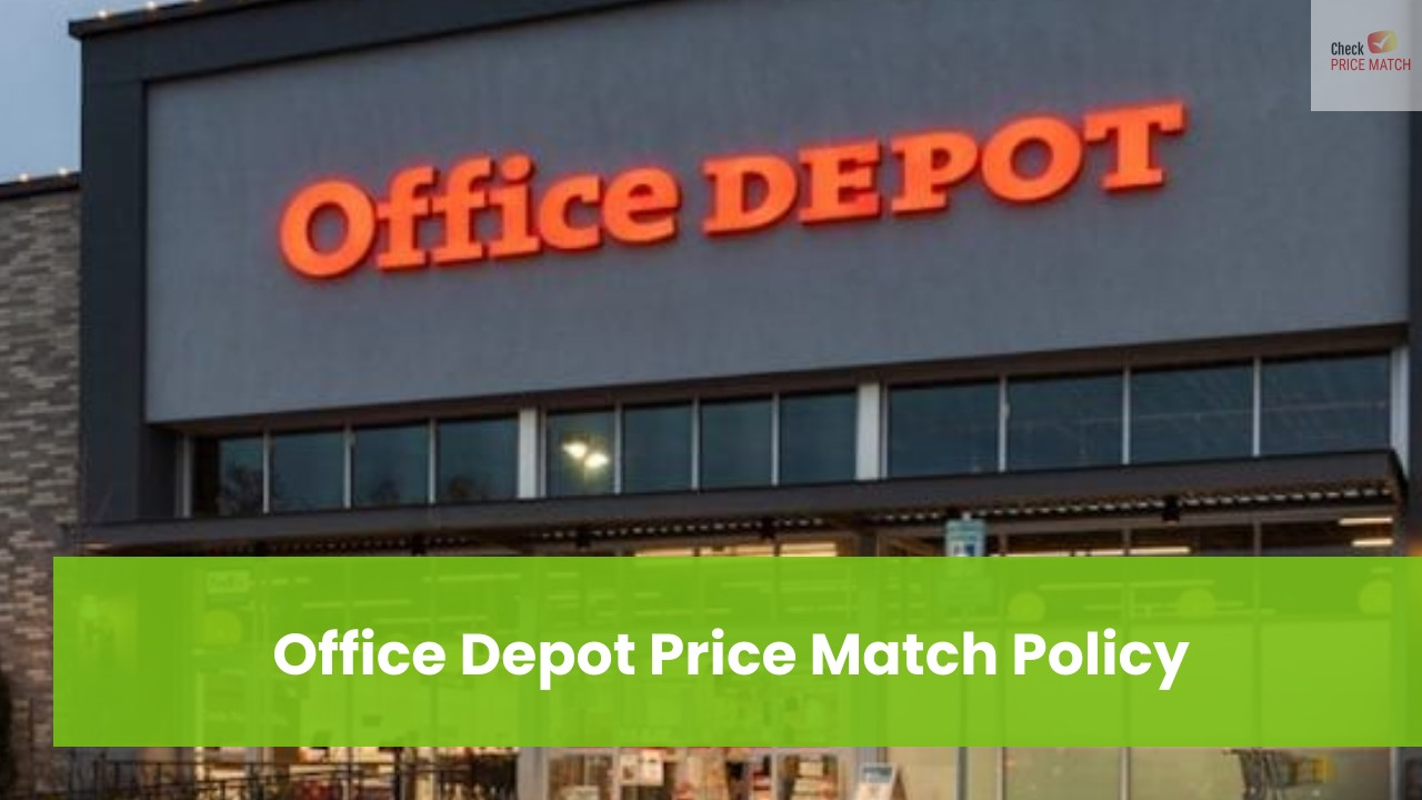 Office Depot Price Match Policy